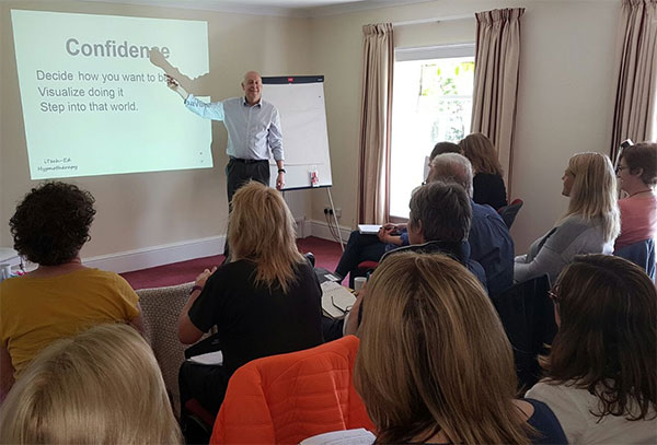 Sport hypnotherapy training at Old Rectory clinic, Iron Acton, May 2017